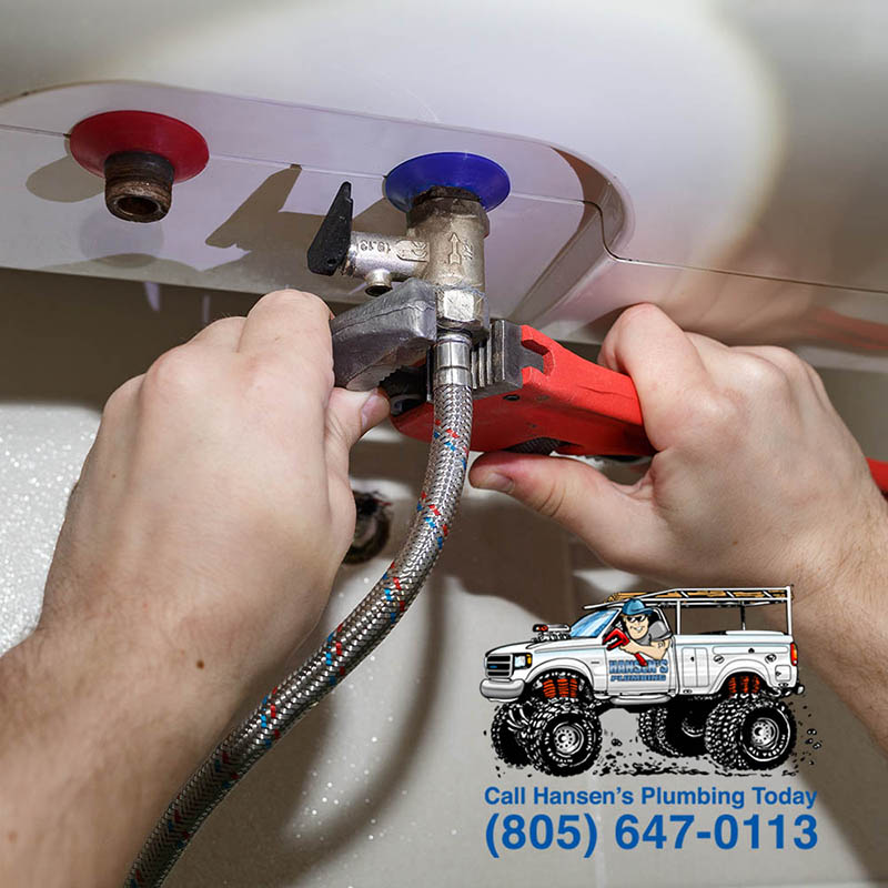 Water heater repair: turning soft iron pipes with pipe wrench